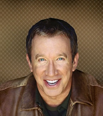 Image of Tim Allen wearing a brown leather jacket.