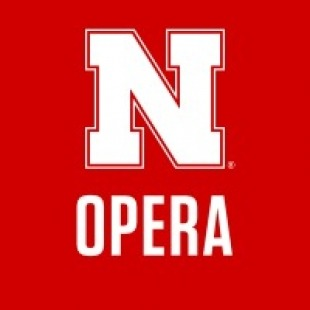 "Nebraska ""N"" with the word ""opera"" underneath it written in white with a red background"