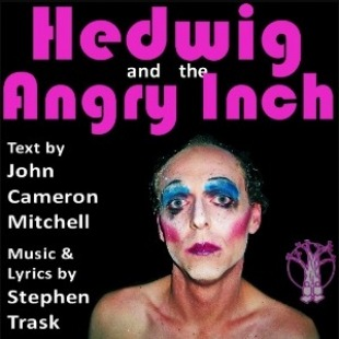 Photo of Hedwig in colorful makeup.