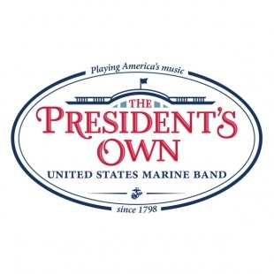 President's Own logo in red text with a blue outline of the White House in the background.