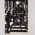 Woodcut, Image 8 H x 5 3/8 W in