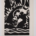 Woodcut, Image 8 H x 5 7/16 W in