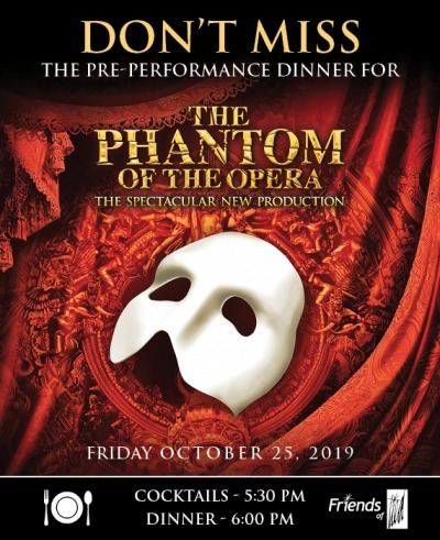 white phantom mask on red fabric