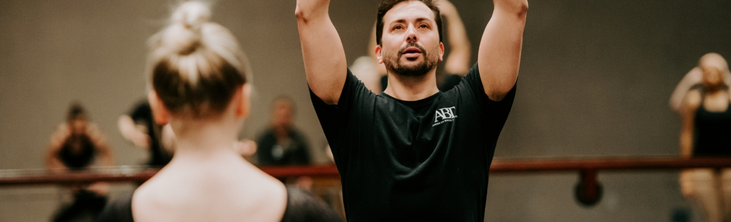 Image of the American Ballet Theater master class