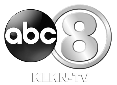 """abc"" in a dark sphere to the left and ""8"" in a dark circle to the right. ""KLKN-TV"" written below."