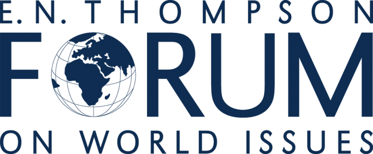 EE.N. THOMPSON FORUM ON WORLD ISSUES LOGO