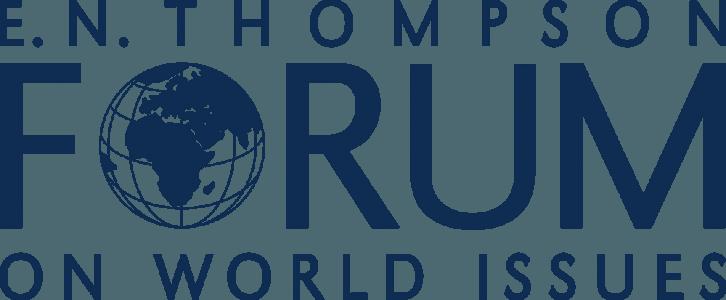EE.N. THOMPSON FORUM ON WORLD ISSUES LOGO