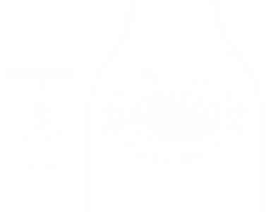 "Outline of a cork next to the outline of a bottle that says ""Meiers Cork 'n Bottle"""